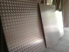 Алюминиевый лист рифленый квинтет 3мм 1х2м 1,25х2,5м 1,5х3м