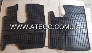 Kit rubber floor mats cab Mercedes Atego