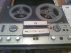 "Tape recorder ""Mayak-205"" in working condition, with Babin"